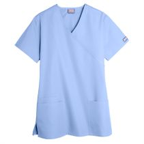Cherokee 4801 Mock-Wrap Top 063192  WORKWEAR
