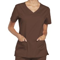 Cherokee 4727 Female Vneck Top 063795  CORE STRETCH