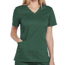Cherokee 4710 Female Vneck Top 064054  CORE STRETCH