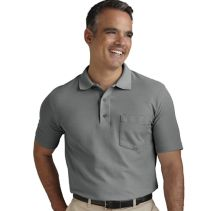 Mens Blended Polo With Pocket 067177  WHILE SUPPLIES LAST