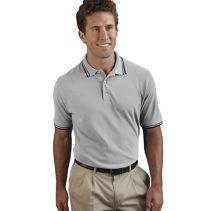 Contrast Trim Male Polo 067256  WHILE SUPPLIES LAST