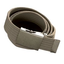 Brushed Metal Buckle Webb Belt086405