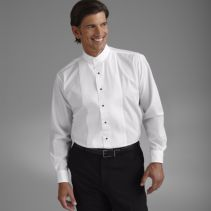 Banded-Collar Tuxedo Shirt 102952  WHILE SUPPLIES LAST