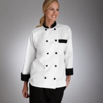 Chef Coat With Black Trim 111378