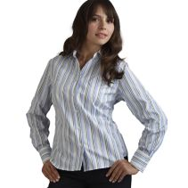 V-Neck Tailored Blouse 112203