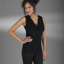 Sleeveless Drape Blouse 112816  WHILE SUPPLIES LAST