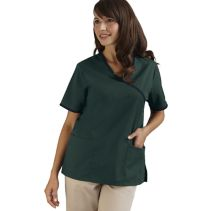 Contrast Mock-Wrap Top 113682  WHILE SUPPLIES LAST