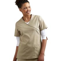 Mock-Wrap Female Scrub Top 114149  WHILE SUPPLIES LAST