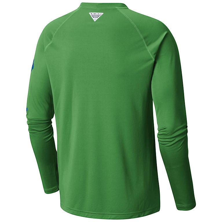 4b02c3b4290 Clean Green, Vivid Blue Logo Men's PFG Terminal Tackle™ Long Sleeve Tee -  Big