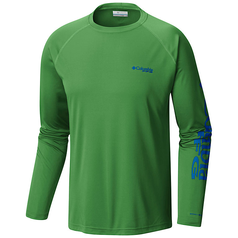 7fe3caa5 Clean Green, Vivid Blue Logo Men's PFG Terminal Tackle™ Long Sleeve Tee -  Tall