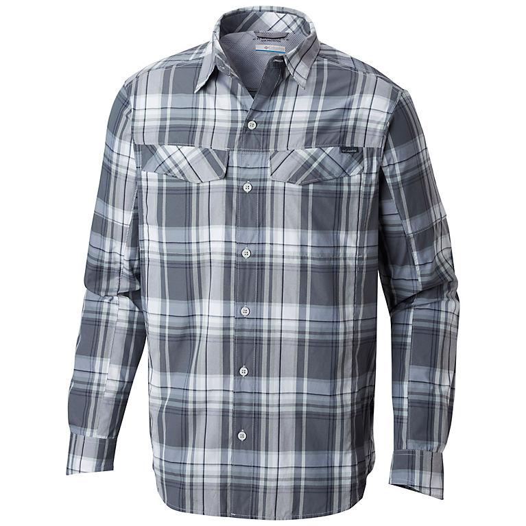 6a29cfee83d Soft Metal Plaid Men's Silver Ridge™ Plaid Long Sleeve Shirt – Big, ...
