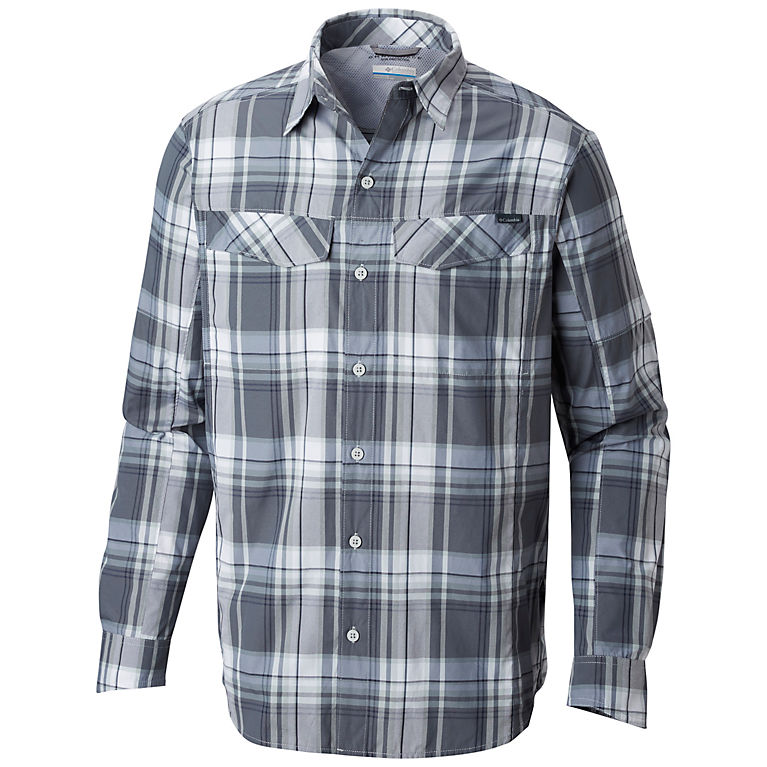 d259c512005 Soft Metal Plaid Men's Silver Ridge™ Plaid Long Sleeve Shirt – Tall, ...