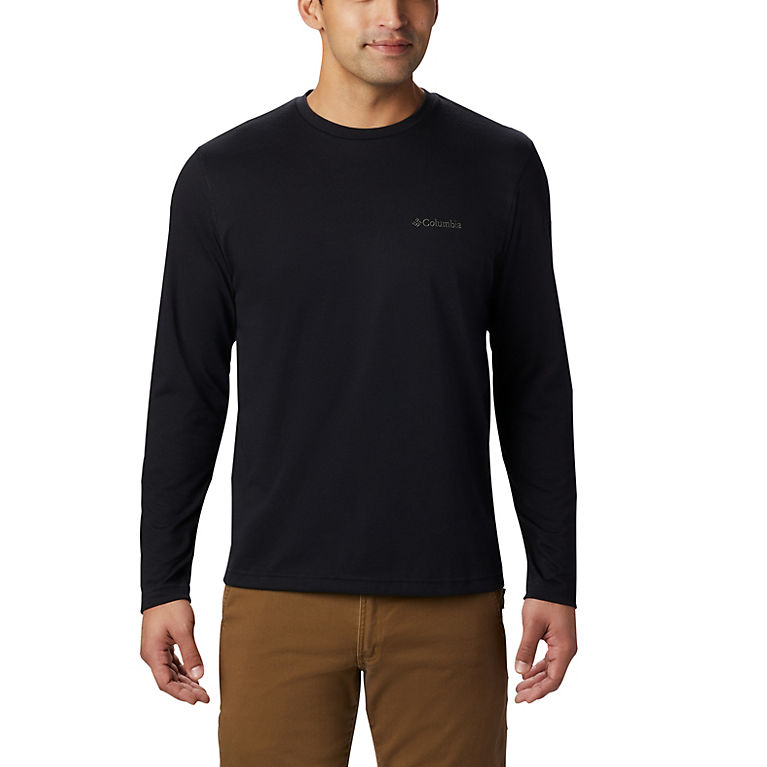 acd34abd9a6 Black Men's Thistletown Park™ Long Sleeve Crew Neck Shirt, View 0