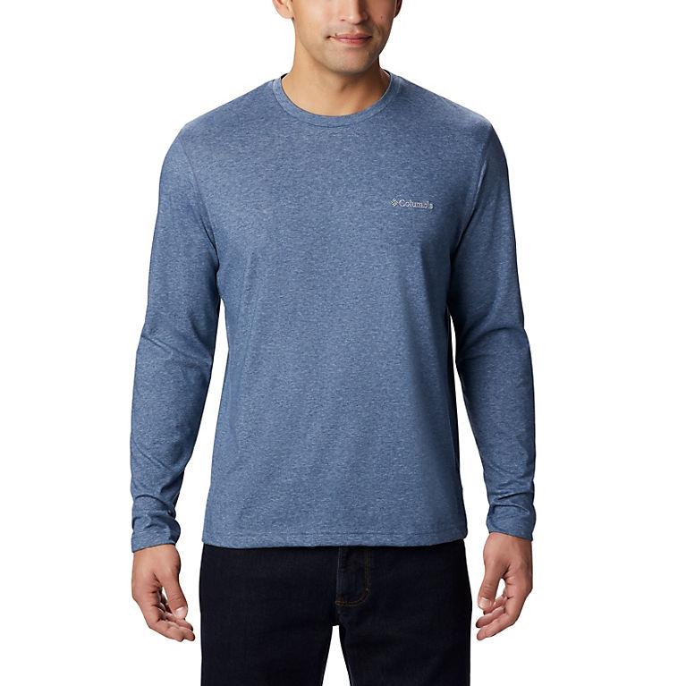 f6774a59bf58 Dark Mountain Heather Men s Thistletown Park™ Long Sleeve Crew Neck Shirt