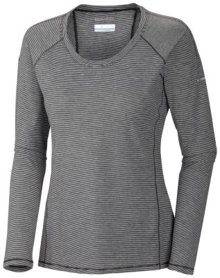 Women's Layer First™ Stripe Long Sleeve Top - Plus Size