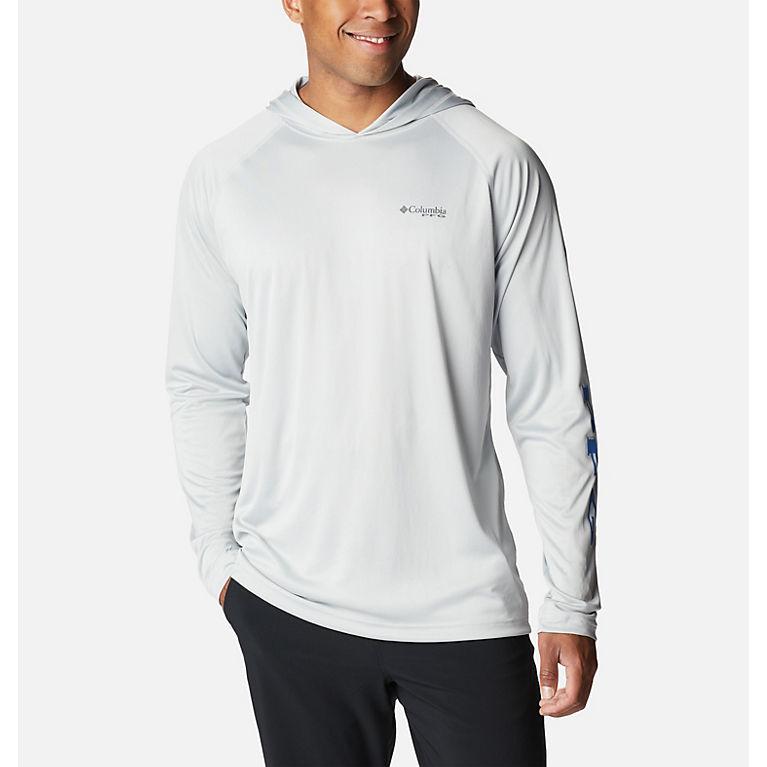 c4e93364dd83 Cool Grey, Vivid Blue Logo Men's PFG Terminal Tackle™ Hoodie - Tall, View
