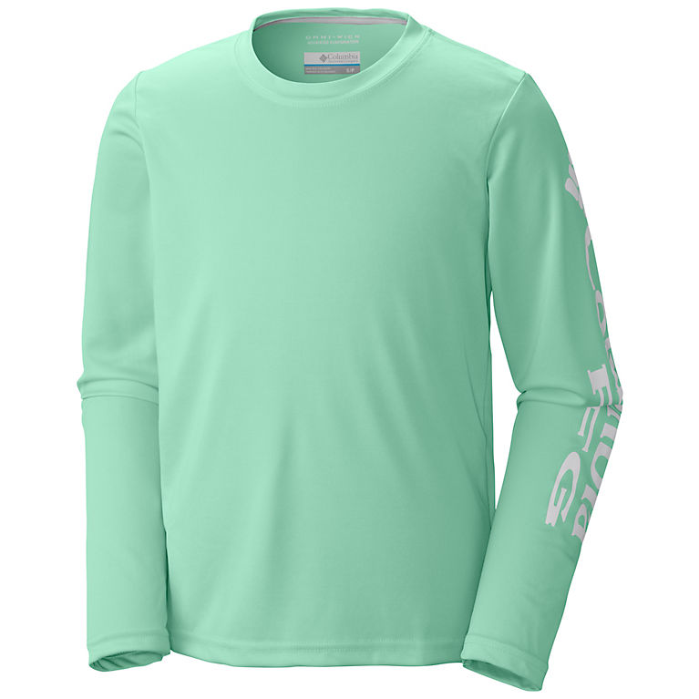 Activewear Tops Omni Shade Sun Protection Columbia Long Sleeve Active Tee Blue Sz S Matching In Colour Clothing, Shoes & Accessories