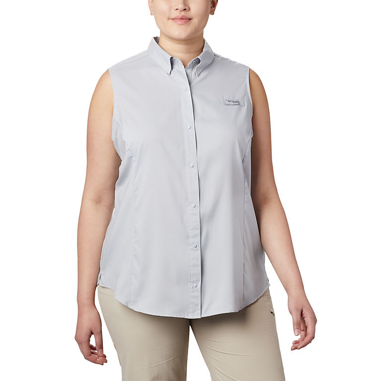 cc3c77bbc2c Cirrus Grey Women s PFG Tamiami™ Sleeveless Shirt - Plus Size
