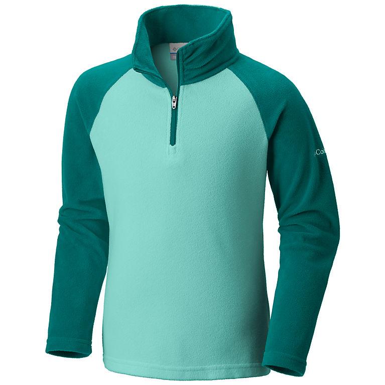Columbia Girls Glacial Fleece Half Zip Jacket (Pixie, Emerald)