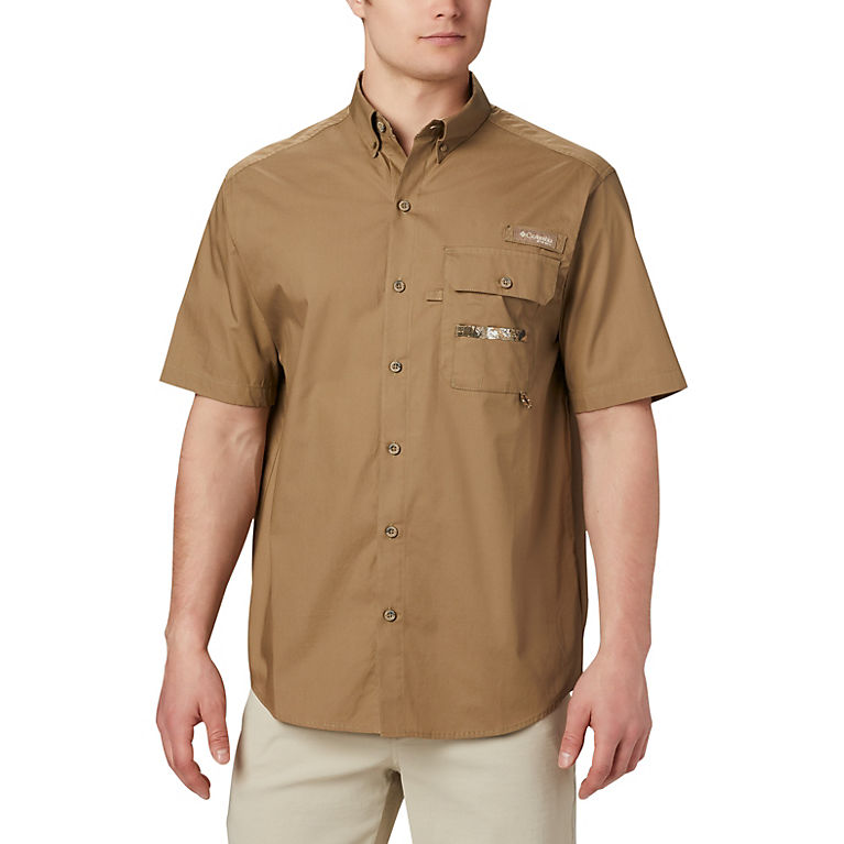Columbia Sharptail Mens Short Sleeve Shirt (Flax)