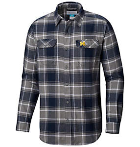 Men's Collegiate Flare Gun™ Flannel Long Sleeve Shirt - Michigan