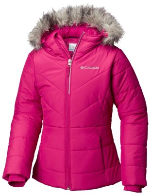 d5ace4b7f1e2 Girls  Katelyn Crest Hooded Puffy Jacket