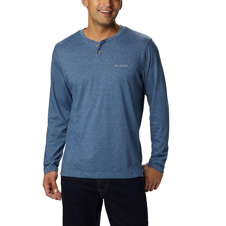 9f8e60d601e Dark Mountain Heather Men's Thistletown Park™ Henley Shirt - Tall, View 0