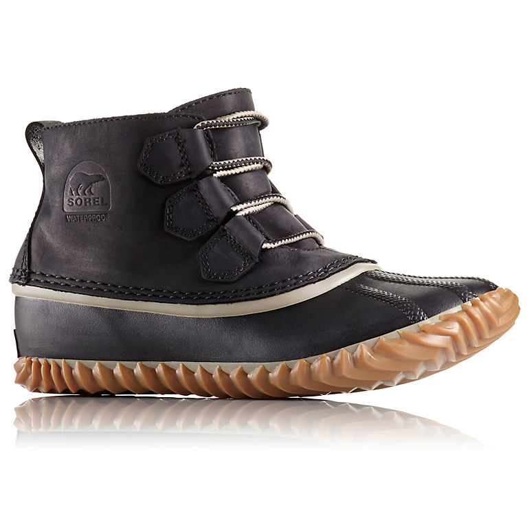super popular 73726 81ce6 Black Women s Out  N About™ Leather Duck Boot, ...