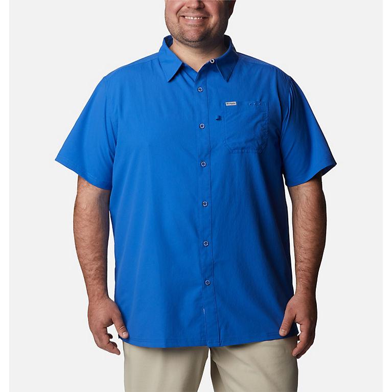 c1a3627fce4 Vivid Blue Men's PFG Slack Tide™ Camp Shirt - Big, View 0