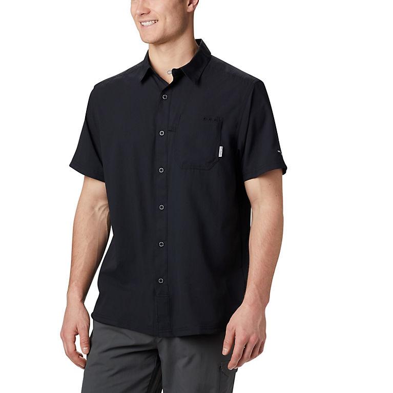 23a8b4c351f Black Men's PFG Slack Tide™ Camp Shirt – Tall, View 0