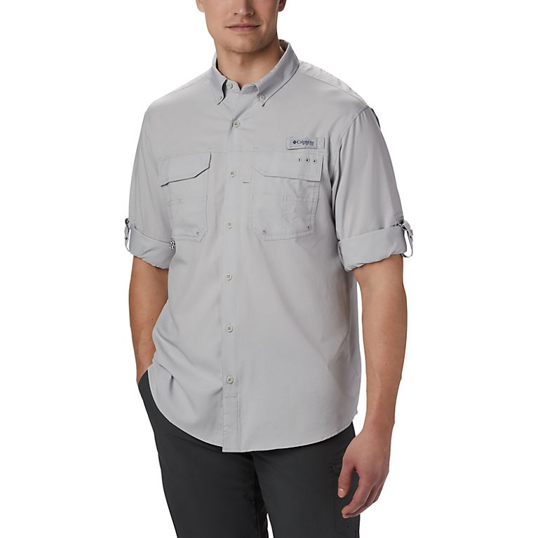 07cdc5650d2 Cool Grey Men's PFG Blood and Guts™ III Long Sleeve Woven Shirt, View 7