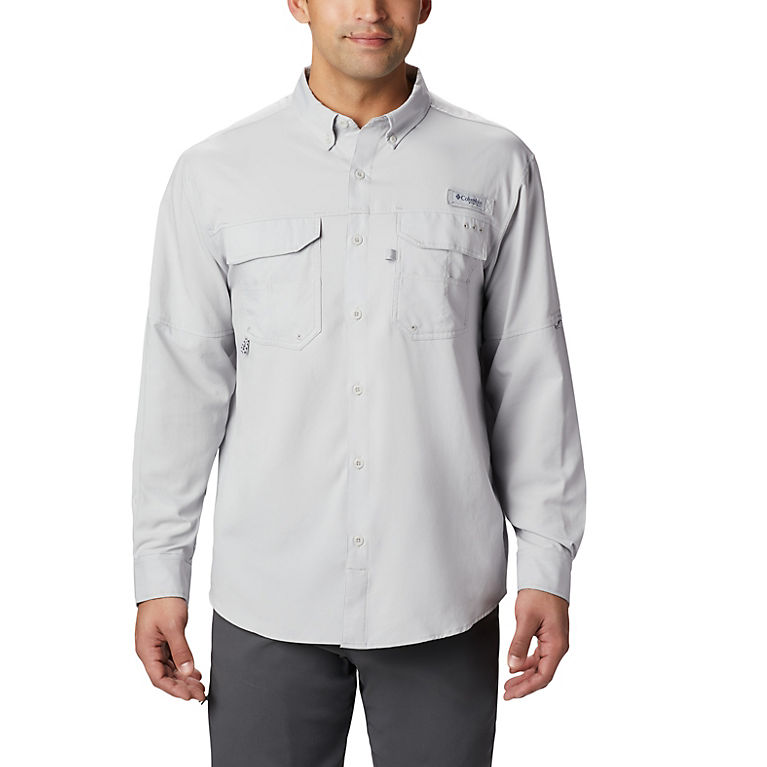 b1f2a58d0dd Cool Grey Men's PFG Blood and Guts™ III Long Sleeve Woven Shirt, View 0