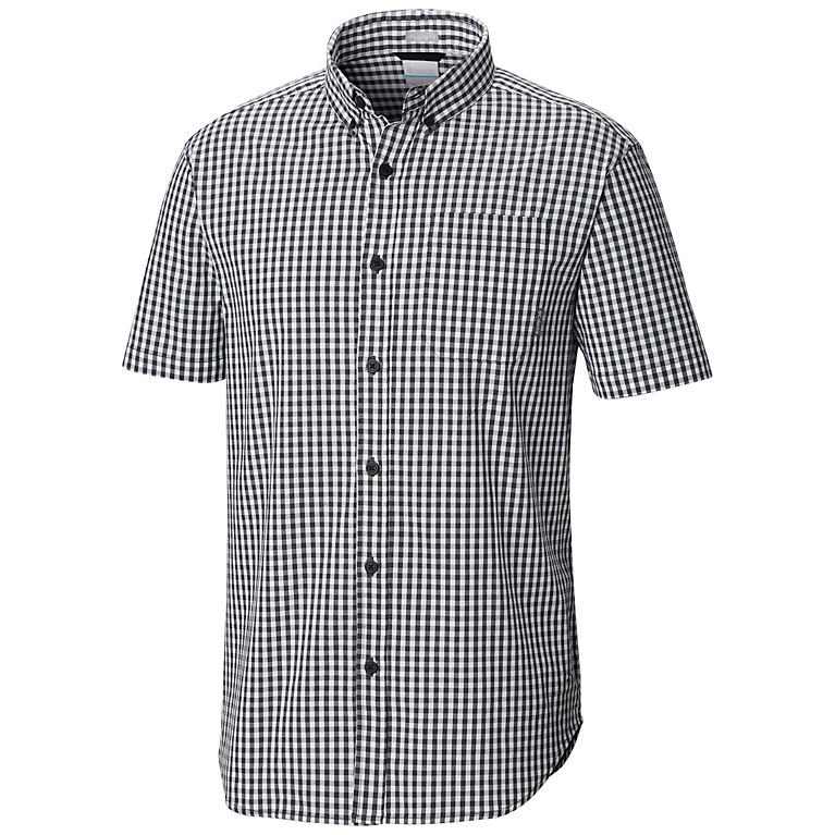 4e7315c35fd Shark Gingham Men's Rapid Rivers™ II Short Sleeve Shirt, ...