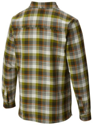 Men's Reversible Flannel Plaid Long Sleeve Shirt