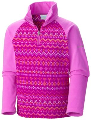 Girls' Glacial™ II Fleece Print Half Zip | Tuggl