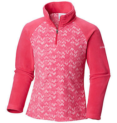 Girl's Glacial™ II Fleece Print Half Zip , front