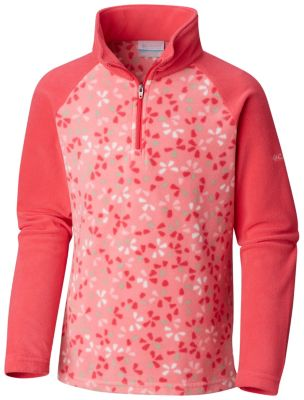 Girls' Toddler Glacial™ II Fleece Print Half Zip | Tuggl