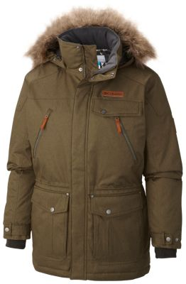 Ts heritage mens dark green long parka jacket