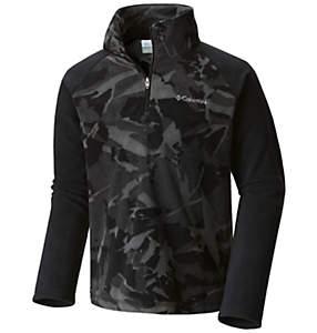Boy's Glacial™ II Print Half Zip Fleece