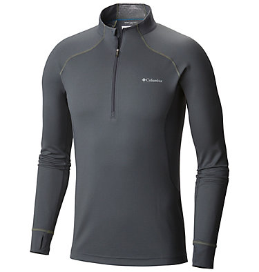 Men's Heavyweight II Stretch Baselayer Long Sleeve Half Zip Shirt , front