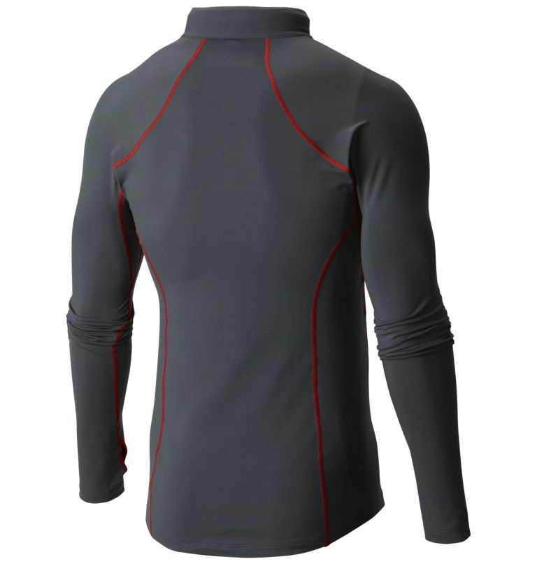 Men's Midweight Stretch Long Sleeve Baselayer Half Zip Shirt Men's Midweight Stretch Long Sleeve Baselayer Half Zip Shirt, back