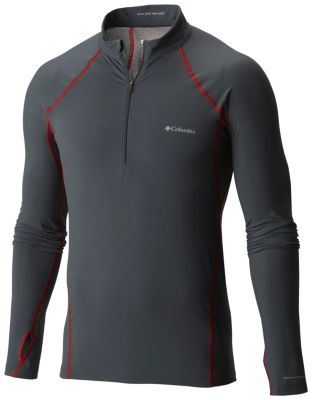 Men's Midweight Stretch Long Sleeve Baselayer Half Zip Shirt | Tuggl