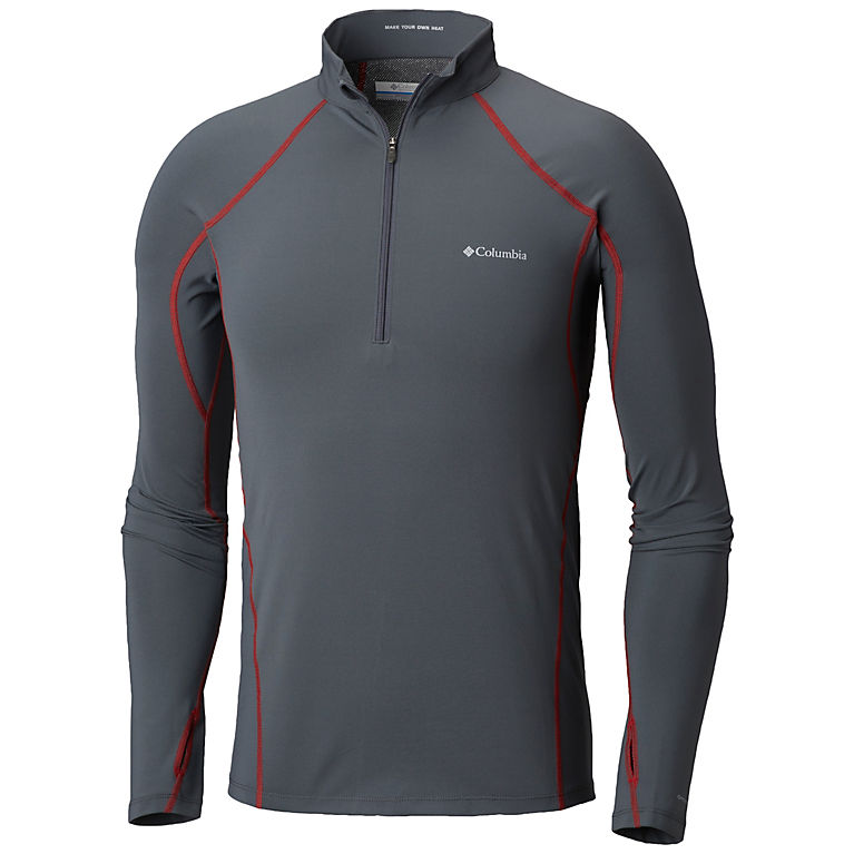 ad67cbc0dac Graphite, Red Spark Men's Midweight Stretch Long Sleeve Baselayer Half Zip  Shirt, View 0