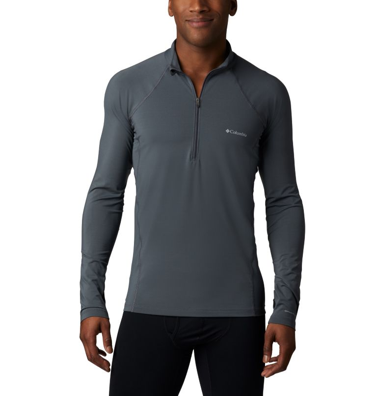Men's Midweight Stretch Long Sleeve Baselayer Half Zip Shirt Men's Midweight Stretch Long Sleeve Baselayer Half Zip Shirt, a1