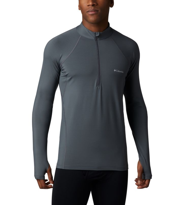 Men's Midweight Stretch Long Sleeve Baselayer Half Zip Shirt Men's Midweight Stretch Long Sleeve Baselayer Half Zip Shirt, front