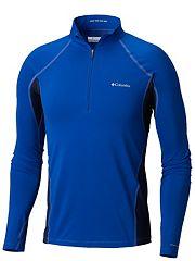 Men s Midweight Stretch Long Sleeve Baselayer Half Zip Shirt 79b93b647