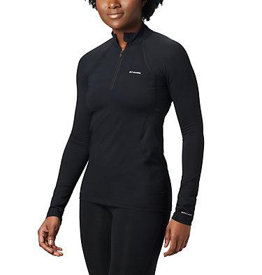 Midweight Stretch Langarmjacke mit halbem Reißverschluss für Damen , front
