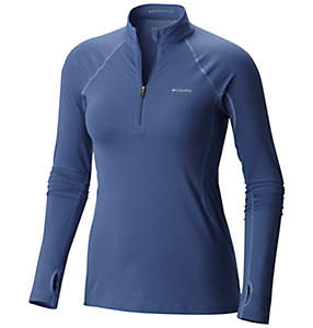 Women's Midweight Stretch Baselayer Long Sleeve Half Zip Shirt