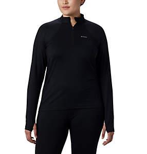 Women's Midweight Stretch Long Sleeve Half Zip - Plus Size