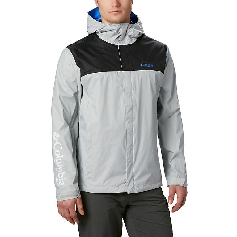 Columbia Grey Khaki Zip Up Windbreaker Jacket M Msrp Men's Clothing $60
